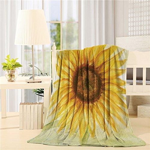 Mikrofaser-stuhl-bett (Flanell Fleece Überwurf Decken Bett/Couch Weich Warm Fuzzy Plüsch Mikrofaser ganzjährig leicht Sofa Stuhl Wirft Sonnenblumenöl Gemälde Art Design 50