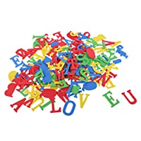 FITYLE 150 Pieces Foam Stickers Self Adhesive Alphabet Letter Stickers for Kids DIY Craft Embellishment Assorted Colors 3.8 Cm
