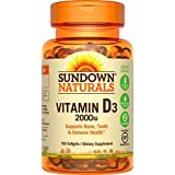 Sundown Naturals - Super Potency Vitamine D3 2000 IU - 120 Gélules
