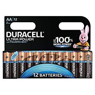 Duracell Ultra Power Alkaline AA Batterien, 12er Pack