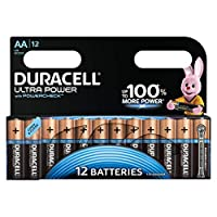 Duracell Ultra AA Alkaline Batteries, 1.5 V LR06 MX1500, Pack of 12 13