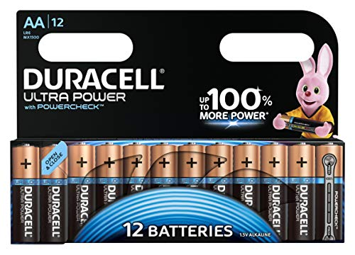Duracell Ultra Power Alkaline AA Batterien, 12er Pack -
