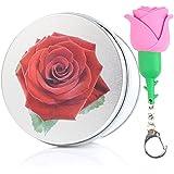 anvor (TM) 8G/16G/32G/64G USB Flash Drive Fun Cute Rose Flor Roja Rosa para Niña silicona USB Stick con llavero (16.0 GB), color rojo