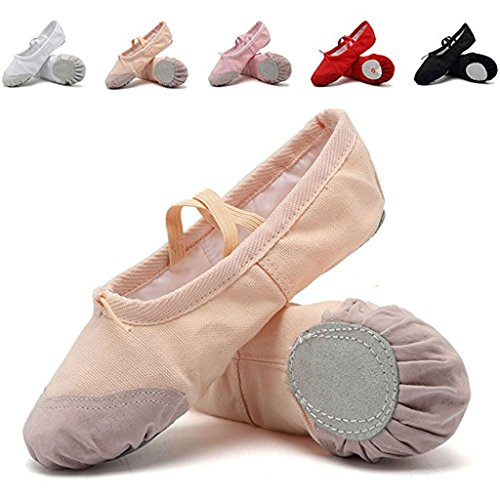 DoGeek Gute Qualität Ballettschuhe weich Spitzenschuhe Ballet Trainings Schläppchen Schuhe für Mädchen/Damen in den Größen 22-40 (Ballett Jazz Kostüm)