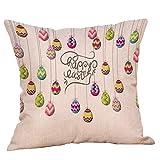 UFACE Ostern Kissenbezug Kissenhülle Kaninchen Muster Leinen Sofakissenbezug Home Decor