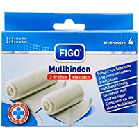Figo Mullbinden, 2er Pack (2 x 4 Stück) preisvergleich bei billige-tabletten.eu