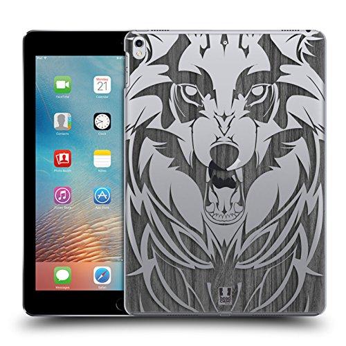 Ipad Animal-print Case (Head Case Designs Wolf Animal Wood Prints Ruckseite Hülle für iPad Pro 10.5 (2017))