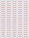 Mabi-IN-Design 100 Namensaufkleber Name Schule Kita Sticker Etiketten Aufkleber drucken A092 (grün)