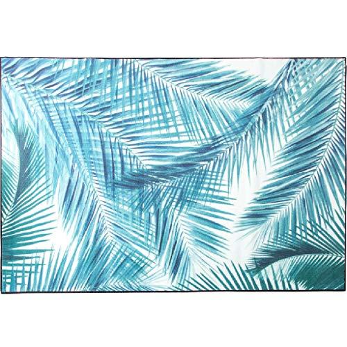 chteckige Weiche Schlafzimmer Teppich Wohnzimmer Matte 0,8 cm Dicke rutschfeste Matte Blatt Matte Geschenk (Color : Blue, Size : 140 * 200 * 0.8CM) ()