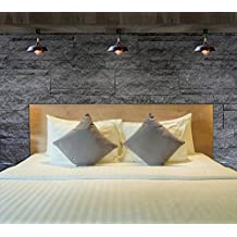MHC duvet cover set T250franjas de satén de lujo suave 100% Pure Premium algodón peinado ropa de cama, algodón, crema, matrimonio