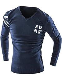 b27e36841c89 Pullover Männer Mode Meter Wort Flagge Pullover Männlichen V Ausschnitt  Nähte Dünne ...