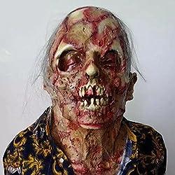 Zombie Máscara de fusión cara Halloween Scary cabeza máscaras, látex adulto disfraz