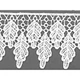 Weiß 65mm breit, Meterware, Guipure-Leaf Spitzenborte