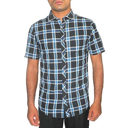 Scullers Men's Cotton Shirt Black