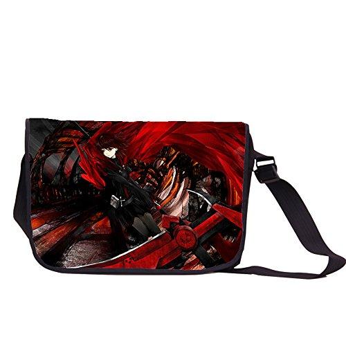 Siawasey anime Rwby Ruby rose Cosplay zaino messenger bag borsa a tracolla nero RWBY21 RWBY7