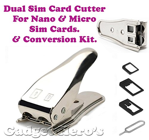 Gadget Hero's Gadget Hero's Dual Sim Card Cutter & Adapter Kit For Nano & Micro Sim Cards With Sim Pin. Mark II