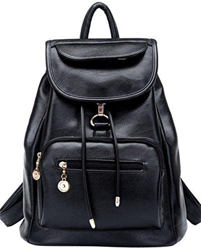 Coofit Damen Vintage Leder Rucksack Schultasche Daypacks Für Outdoor Sports