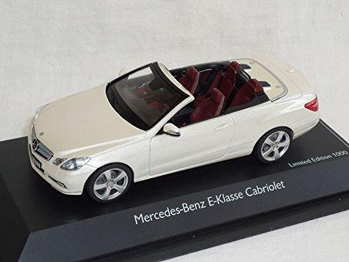 Preisvergleich Produktbild Mercedes-Benz E-klasse W212 Ab 2009 Cabrio Weiss A209 1/43 Schuco Modell Auto Modellauto