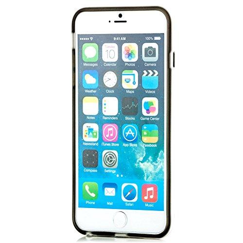 """Saxonia. Saxonia Coque de protection arrière en silicone/TPU pour Apple iPhone 6 Plus 5,5"""" Finitions de grande qualité orange gris"""