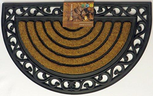 WFG Kokosmatte, halbrund mit Gummirücken, schwere Qualität (Motiv Orient)