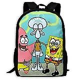 Spongebob Schwammkopf mit Freunden Casual Rucksack Schultasche Reise Tagesrucksack Geschenk