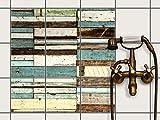 creatisto Dekor-Fliesen, Badfliesen | Fliesentattoo Küche Bad ergänzend zu Kühlschrankmagnet Wandtattoo | 20x20 cm Design Motiv Schiffsbruch - 9 Stück