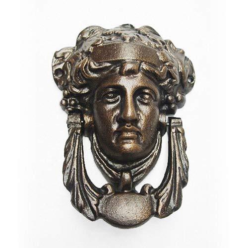 zeitzone Wunderschöner Türklopfer Medusa Eisen Bronze-Optik Antik-Stil