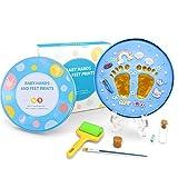 Baipin Deluxe Version Baby Gipsabdruck Geschenkbox Set, Baby Abdruck Set für Handprint Footprint Hand Fuß, für Baby Treasure
