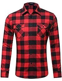 Abbigliamento Uomo camicia Amazon rossa it qwfzx6IztZ