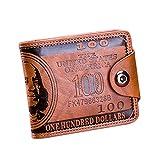 Heflashor Herren Clutch Heflashor Geldbörse Dollar Drucken Vielen Kartenfächer Multifunktionale Haspe Card Geldbeutel Brieftasche Portemonnaie Börse