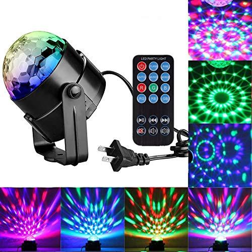 Toran Home Farben Disco Licht RGB Bühnenbeleuchtung Projektor Rotierenden Ball Lampe Fernsteuerung EU/US/UK Stecker Für Party KTV Bühnenbeleuchtung -