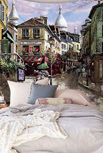 City Scenery Tapestry 100% poliestere–Memorecool telo mare casa appeso coperta ufficio coperte 149,9x 129,5cm, Poliestere, city34, 59x79inch city33
