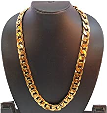Multiline Company Gold Plated Alloy Chain Necklace For Men