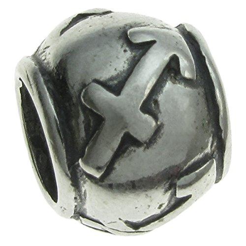 Queenberry in argento Sterling 925, segno zodiacale Sagittario con Charm per Pandora, Chamilia, Troll Biagi e altri bracciali simili di europea, - Live Love Laugh Bracciale