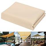 dDanke 98% UV-Schutz Sun Segel Sonnenschutz Sonnendach für Outdoor Garten Terrasse Party 200* 180cm (4Seilen und 4Stück D Typ Schnallen enthalten)