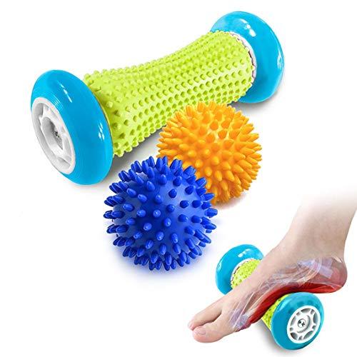 Fußmassage Igelball roller massageball für Plantarfasziitis - Muskel Roller & Fußmassage Balls - Schmerzlinderung für Hacken & Fußgewölbe,Stressreduzierung und Entspannung durch Triggerpunkt-Therapie