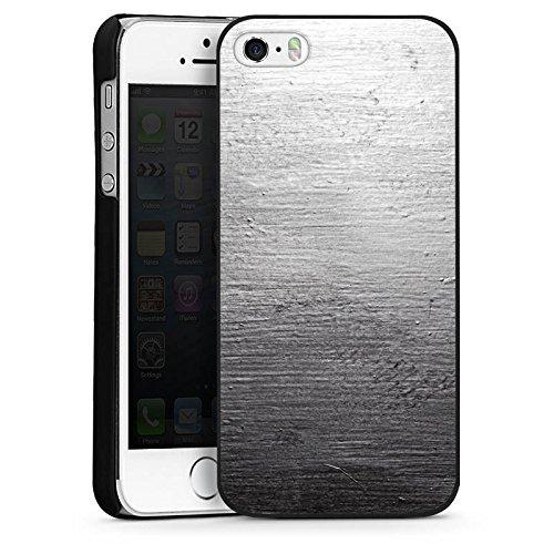 Apple iPhone 5 Housse Étui Silicone Coque Protection Béton Mur Look motif CasDur noir