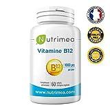 VITAMINE B12 idéale pour les Vegans- 1mg/gélule - FABRICATION FRANÇAISE – 60 gélules végétales ⭐️ SATISFAIT OU REMBOURSE