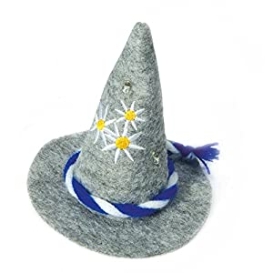 Zoelibat 97298841.006-Mini Puntiaguda Sombrero a steckreif Fieltro Sombrero Mini Sombrero, Unisex, Gris