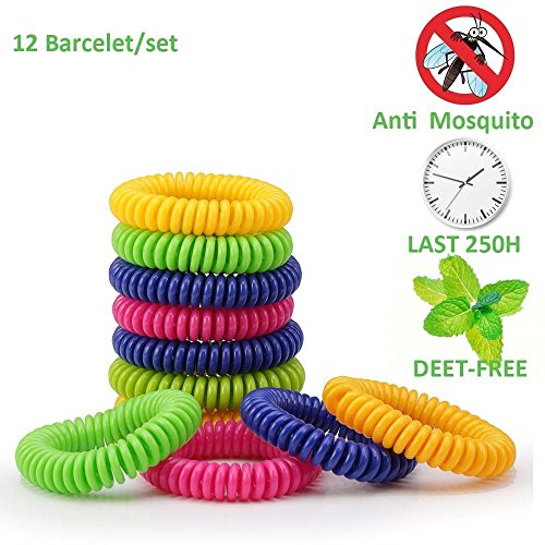 eLander Premium Naturals Moskito Repellent Armbänder, 12 Pack Best Pest Control Repeller bis zu 250Hrs Schutz Gegen Mücken & Insekten - Outdoor & Indoor