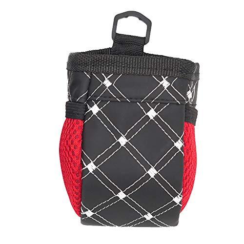 Mülltasche fürs Auto Multi-Purpose Organizer Auslaufsichere mit Deckel - mit Befestigungshaken Oben und Unten Vielseitige Aufbewahrungstasche Schwarz-Weiss 12 * 7 * 6.5cm