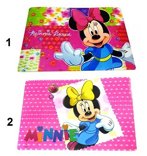 Lot 4 Set de table Minnie Disney 3D Dessous Bureau Enfant Fille Mod1 Noeud Rose - 272