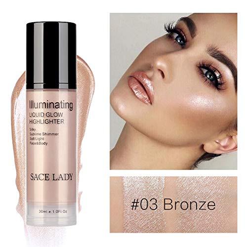 Oyalaiy Fond de Teint Liquide Highlighter Visage Anti-cernes Illuminateur Maquillage Enlumineur...