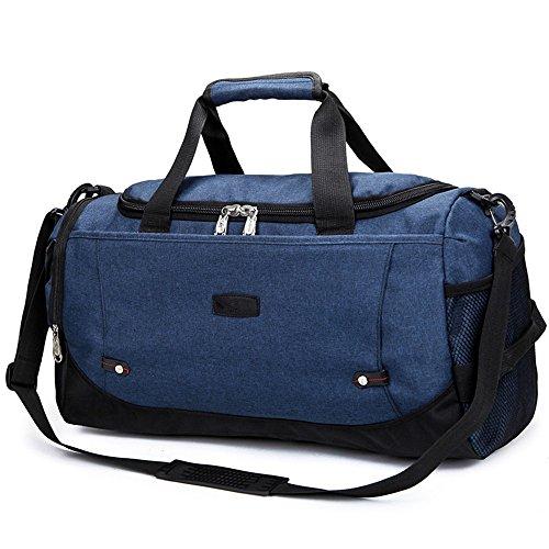 große fähigkeit tragbare reisetasche sport fitness - tasche,das meer blau denim blue