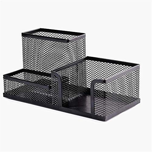 Pen Pencil Holder Organizer Container Iron Mesh DREI Gitter Kombinationsbox geeignet für Studenten-Kinder-Schreibtisch Stationery High Capacity