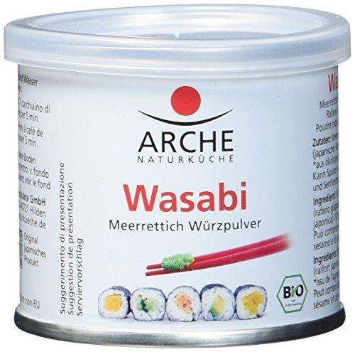 Arche Bio Wasabi Meerrettich Würzpulver zum Anrühren, 2er Pack (2 x 25 g)