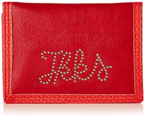 IKKS Porte Monnaie Rock Love, 14 cm, (Rouge)