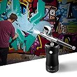 Gocheer Airbrush Kompressor Set,0,3 mm 7CC Gesichtsschönheit Spritzpistole Sauerstoffmessgerät Bodypainting Farben kit für ModellbauSchönheit Art Painting Tattoo Craft Cake Torten Make Up - 6