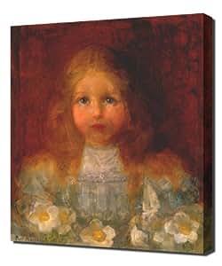 Piet Mondrian - Portrait Of A Girl With Flowers 1 - Reproduction d'art sur toile