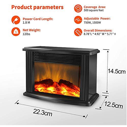 Yongqxxkj - Calefactor para Chimenea eléctrica, Mini termostato de Mesa portátil de 1000 W, Mini termostato...